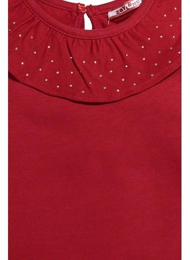 Zeyland Taşlı Fırfırlı Yaka Elbise (9ay-4yaş) Taşlı Fırfırlı Yaka Elbise (9ay-4yaş) Kırmızı